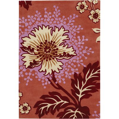Burchell Orange Area Rug Rug Size: 79 x 106