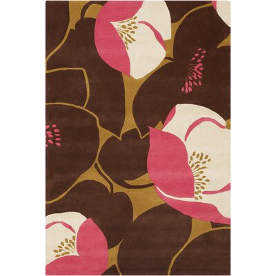 Burchell Poppy Pink Area Rug Rug Size: Rectangle 79 x 106