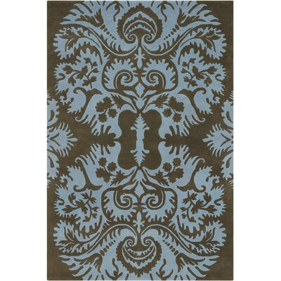 Burchell Brown/Tan Acanthus Area Rug Rug Size: Rectangle 79 x 106