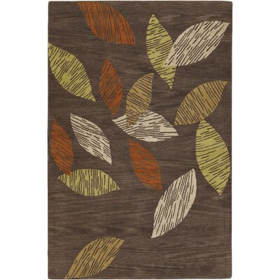 Aschera Brown Area Rug Rug Size: 2 x 3