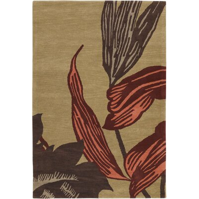 Steib Tan/Brown Area Rug Rug Size: Rectangle 5 x 76