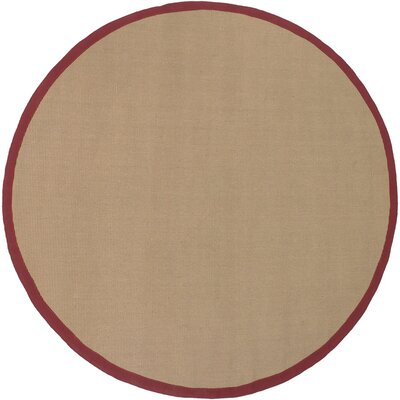 Eastwood Red/Tan Area Rug Rug Size: Round 79