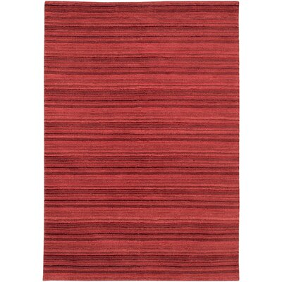 Beacon Burgundy Area Rug Rug Size: 3'6 x 5'6