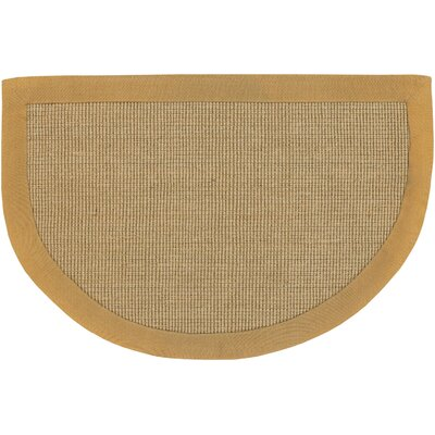 Half Moon Brown/Tan Area Rug Rug Size: 2 x 3
