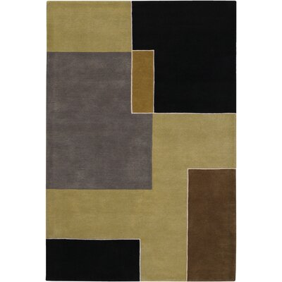 Stickel Black/Grey Area Rug Rug Size: Rectangle 79 x 106