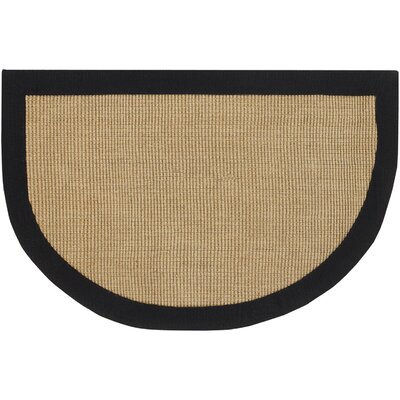 Half Moon Black/Tan Area Rug Rug Size: 2 x 3