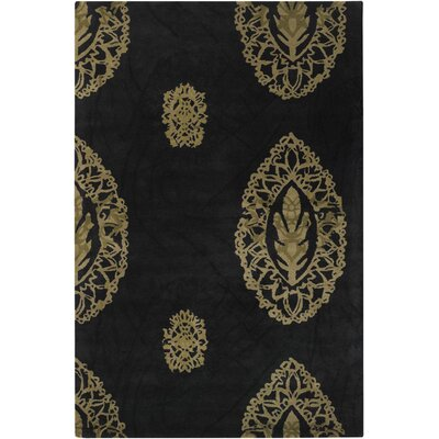 Black/Tan Area Rug Rug Size: Runner 26 x 76