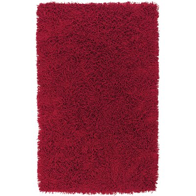 Enza Red Area Rug Rug Size: 36 x 56