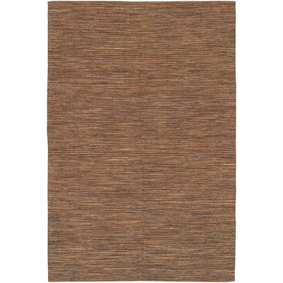 Elbeni Hand Woven Cotton Brown Area Rug Rug Size: 2 x 3