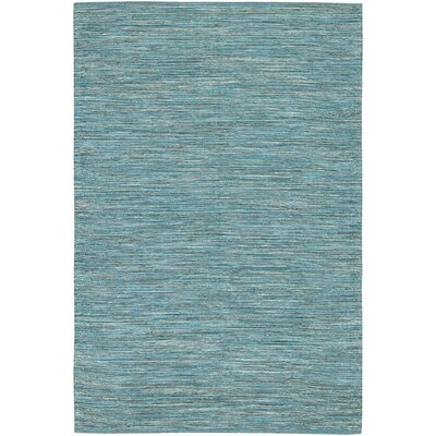 Elbeni Hand Woven Cotton Blue Area Rug Rug Size: 79 x 106