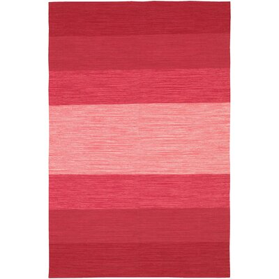 India Hand-Woven Red Area Rug Rug Size: 2 x 3