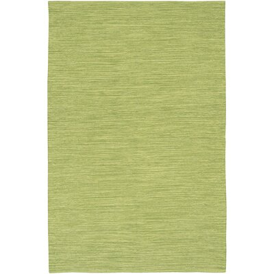 Elbeni Hand Woven Cotton Green Area Rug Rug Size: 36 x 56
