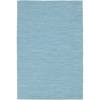 India Blue Solid Area Rug Rug Size: 36 x 56