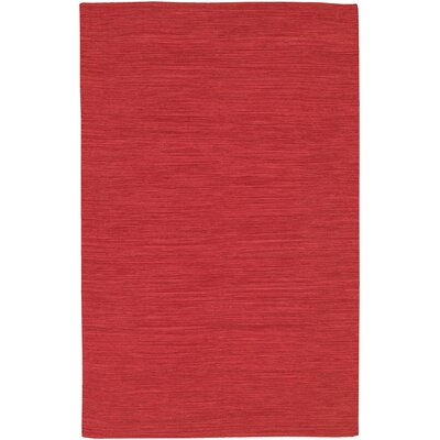Elbeni Hand Woven Cotton Red Area Rug Rug Size: 36 x 56