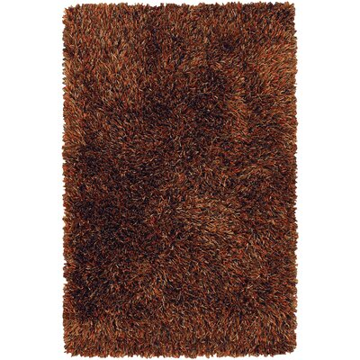Zhen Dark Brown Rug Rug Size: 79 x 106
