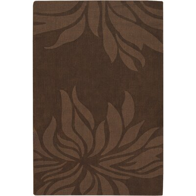 Piche Brown Floral Area Rug Rug Size: Rectangle 5 x 7
