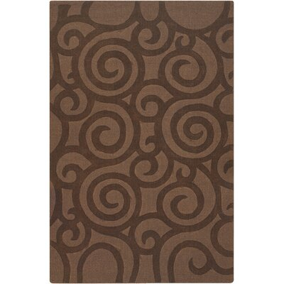 Aspen Brown Swirls Area Rug Rug Size: 5 x 7