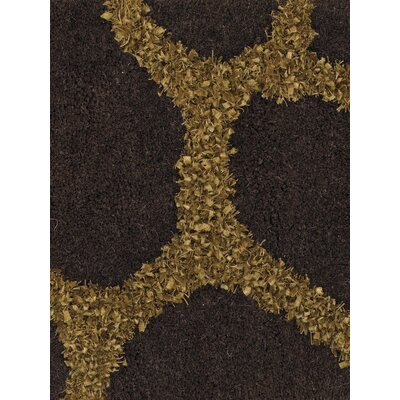 Jacques Brown/Gold Rug Rug Size: 5 x 76