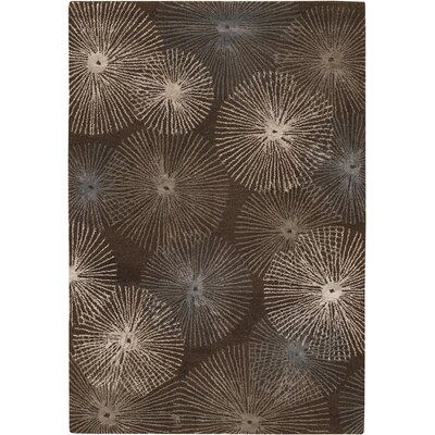 Rogelio Light Chocolate Area Rug Rug Size: 2' x 3'