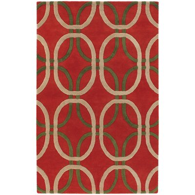 Rowe Red Area Rug Rug Size: 2 x 3