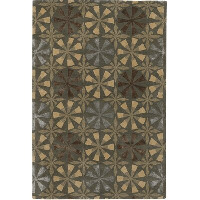 Rowe Brown/Tan Area Rug Rug Size: 79 x 106