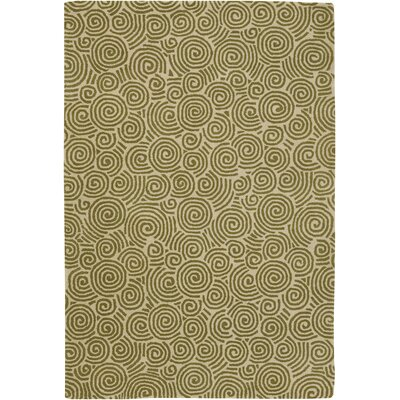 Burnestown Beige/Green Area Rug Rug Size: Round 79