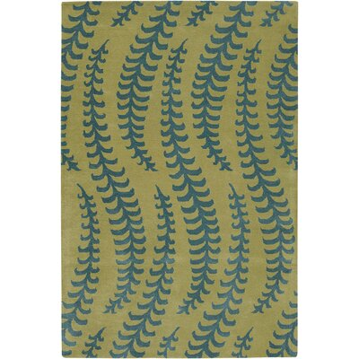 Burnestown Green/Blue Area Rug Rug Size: 2 x 3