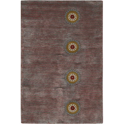 Rowe Purple Stripe Area Rug Rug Size: 2' x 3'