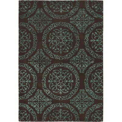 Shaldon Brown/Blue Area Rug Rug Size: 2 x 3