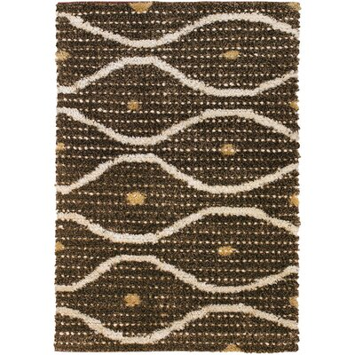 Strata Brown/Tan Area Rug Rug Size: Rectangle 79 x 106