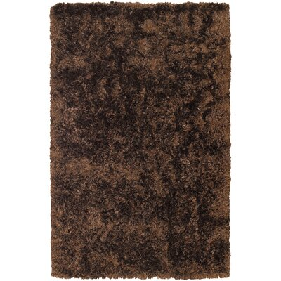 Rorie Dark Brown Area Rug Rug Size: Round 79