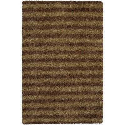 Zara Brown/Tan Area Rug Rug Size: 79 x 106