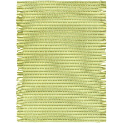 Seffner Hand-Woven Green Area Rug Rug Size: 5 x 76