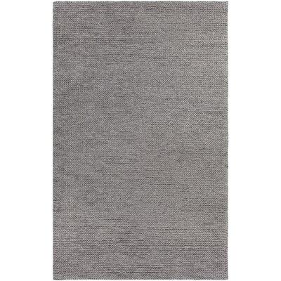 Burtle Hand-Woven Charcoal Area Rug Rug Size: 5 x 76