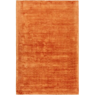 Stockman Hand-Woven Orange Area Rug Rug Size: 5' x 7'6