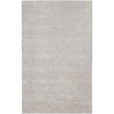 Mae Hand-Woven Silver Area Rug Rug Size: 9 x 13