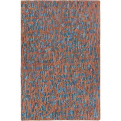 Misty Hand-Tufted Brown/Blue Area Rug Rug Size: 79 x 106