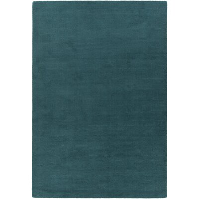 Raya Contemporary Wool Blue Area Rug Rug Size: Round 8