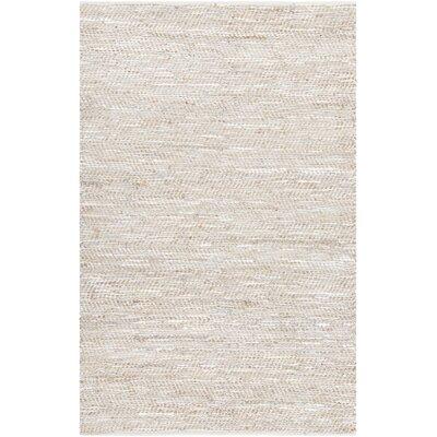 Polito Hand-Woven Silver Area Rug Rug Size: 5 x 76