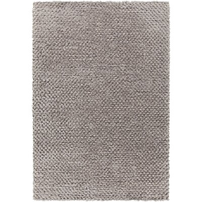 Janey Hand-Woven Silver Area Rug Rug Size: 5 x 76
