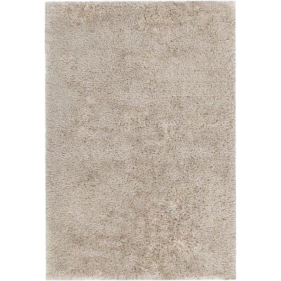 Gareth Hand-Woven Sand Area Rug Rug Size: 79 x 106