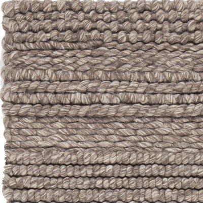 Penn Hand-Woven Brown Area Rug Rug Size: 79 x 106
