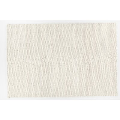Ambrose Hand-Woven White Area Rug Rug Size: 79 x 106