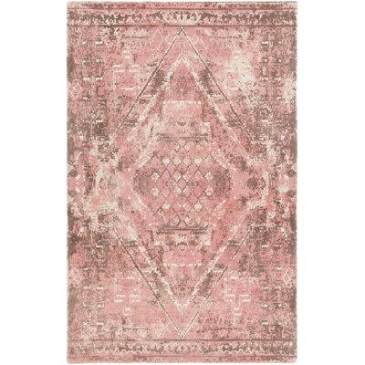Cristal Hand-Tufted Wool Pink/Brown Area Rug Rug Size: 79 x 106