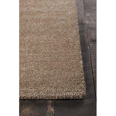 Alcon Hand-Woven Beige Area Rug Rug Size: 79 x 106