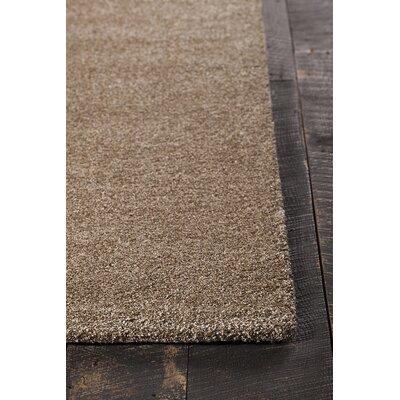 Onida Hand-Woven Beige Area Rug Rug Size: 79 x 106