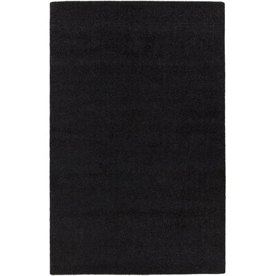Alcon Hand-Woven Black Area Rug Rug Size: 79 x 106