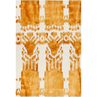 Colombes Hand-Tufted Orange/Beige Area Rug Rug Size: 79 x 106