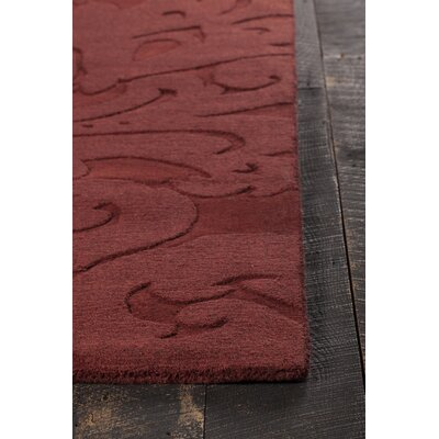 Raya Contemporary Wool Red Area Rug Rug Size: 5 x 8