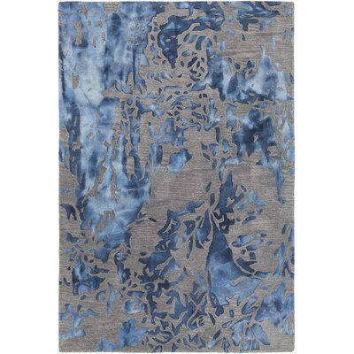 Steves Hand-Tufted Blue/Gray Area Rug Rug Size: 79 x 106